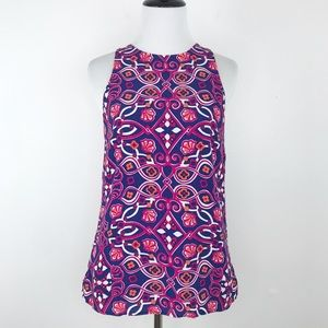 Vineyard vines shell beach print sleeveless blouse